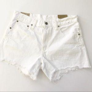 Polo Ralph Lauren distressed white jean shorts 29
